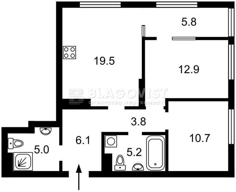 Квартира F-43891, Правди просп., 13 корпус 4, Київ - Фото 2