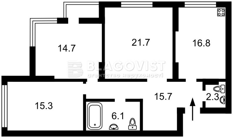 Квартира F-43912, Конева, 10/1, Киев - Фото 4