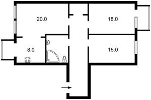 Квартира Малевича Казимира (Боженка), 89, Київ, Z-587643 - Фото2