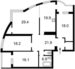 Квартира Голосеевский проспект (40-летия Октября просп.), 68, Киев, Z-320580 - Фото2
