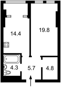 Квартира Победы просп., 11 корпус 2, Киев, D-36657 - Фото 2