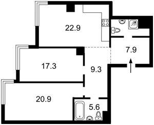 Квартира Трускавецкая, 8, Киев, Z-713695 - Фото2