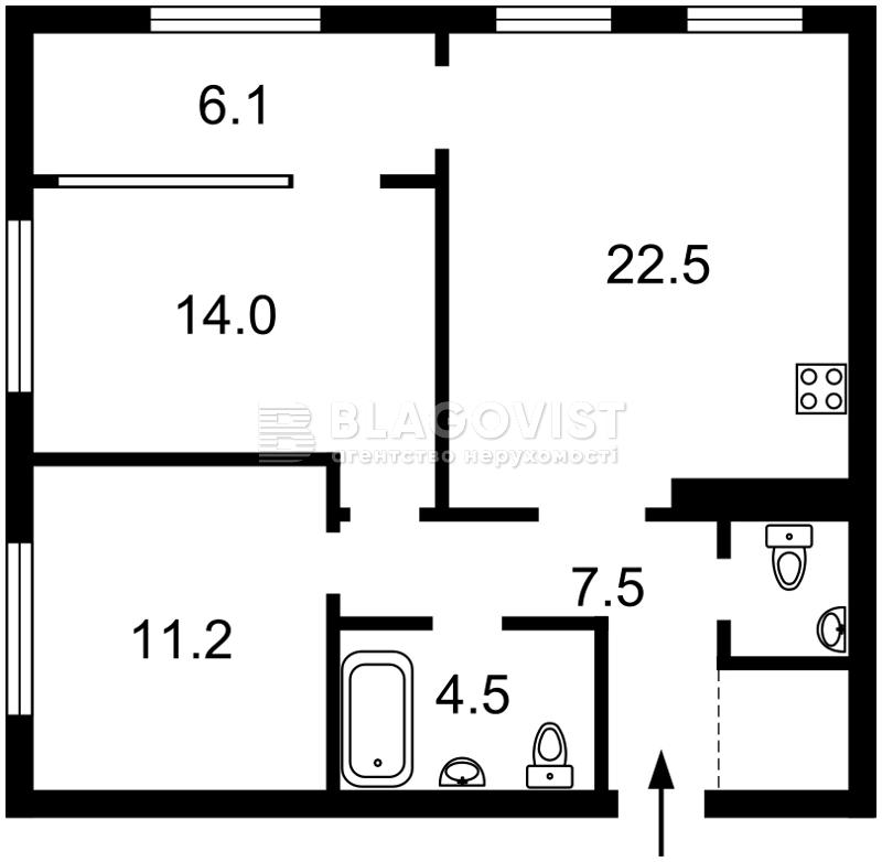 Квартира F-43975, Правды просп., 13 корпус 5, Киев - Фото 5