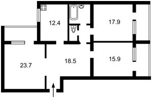 Квартира Єфремова Академіка (Уборевича Командарма), 18, Київ, Z-714432 - Фото 2