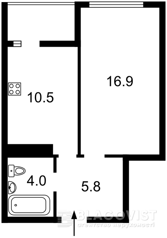 Квартира Z-1078567, Верховинная, 37, Киев - Фото 3