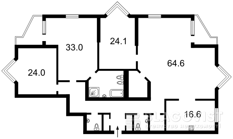 Квартира M-37875, Коновальця Євгена (Щорса), 32г, Київ - Фото 6