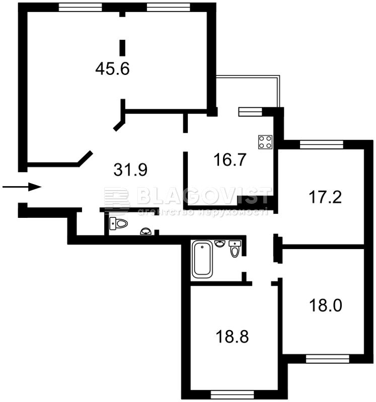 Квартира M-38155, Антоновича (Горького), 103, Київ - Фото 7