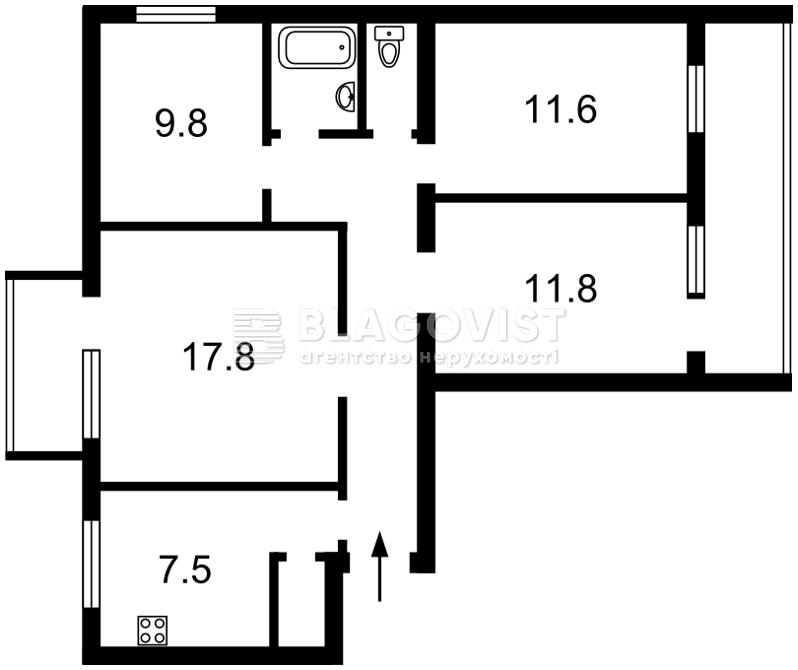 Квартира C-108312, Малышко Андрея, 29а, Киев - Фото 2