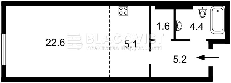 Квартира A-111662, Максимовича Михаила (Трутенко Онуфрия), 24б, Киев - Фото 5