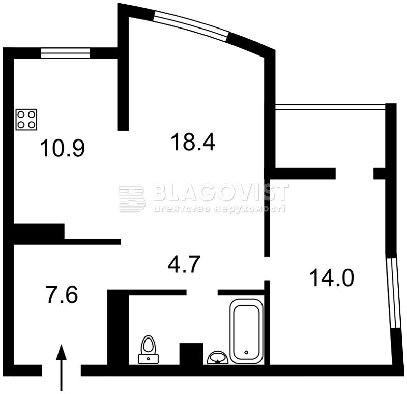 Квартира F-44034, Оболонский просп., 1 корпус 1, Киев - Фото 4