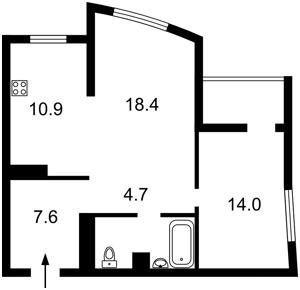Квартира Оболонский просп., 1 корпус 1, Киев, F-44034 - Фото2