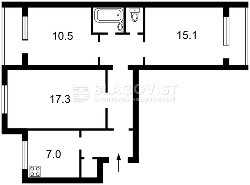 Квартира X-16713, Уманская, 25 корпус 1, Киев - Фото 4