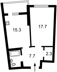 Квартира Тютюнника Василия (Барбюса Анри), 28а, Киев, Z-722397 - Фото2