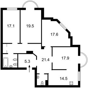 Квартира Чаадаева Петра, 2в, Киев, Z-711566 - Фото2