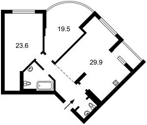 Квартира Максимовича Михайла (Трутенка Онуфрія), 3д, Київ, Z-720121 - Фото2
