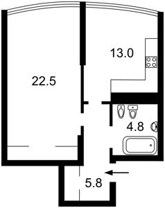 Квартира Победы просп., 26а, Киев, Z-721714 - Фото2