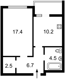 Квартира Петрицкого Анатолия, 13, Киев, Z-135172 - Фото2