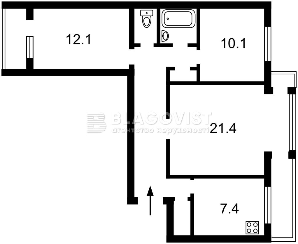 Квартира C-108534, Малишка А., 19а, Київ - Фото 3