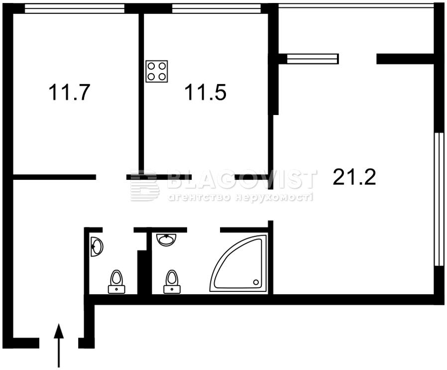 Квартира C-108514, Причальная, 11 корпус 1, Киев - Фото 5