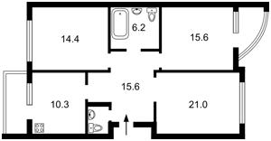 Квартира Чорновола Вячеслава, 29а, Київ, R-36640 - Фото2