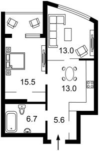 Квартира Никольско-Слободская, 3б, Киев, Z-712438 - Фото2