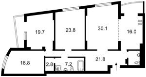 Квартира Окіпної Раїси, 10, Київ, Z-708092 - Фото2