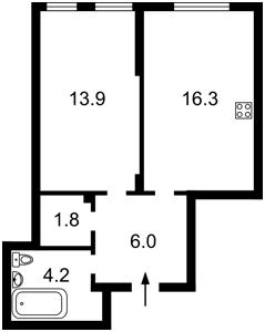 Квартира Регенераторная, 4 корпус 4, Киев, Z-730600 - Фото2