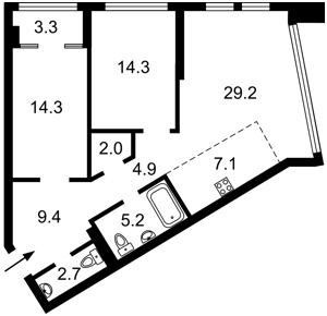 Квартира Победы просп., 11 корпус 1, Киев, Z-731783 - Фото2