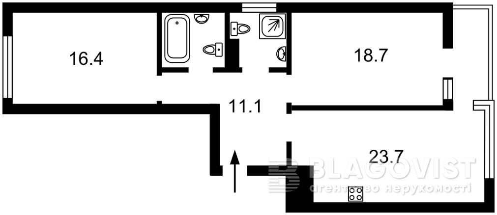 Квартира R-36757, Джона Маккейна (Кудри Ивана), 1, Киев - Фото 4