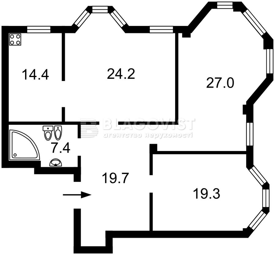 Квартира E-40445, Сковороды Григория, 6, Киев - Фото 4