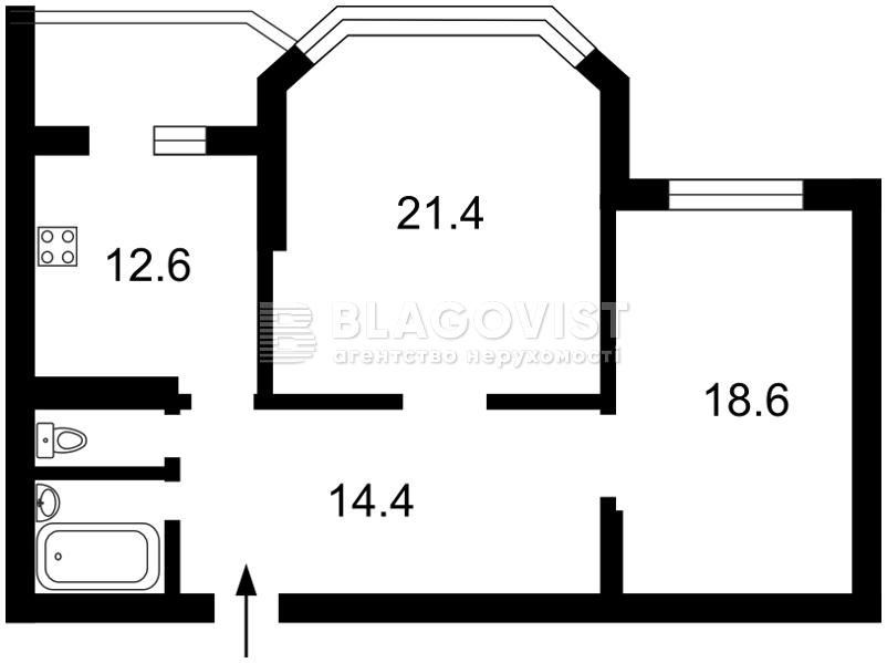 Квартира M-38414, Пономарева, 26 корпус 2, Коцюбинское - Фото 3