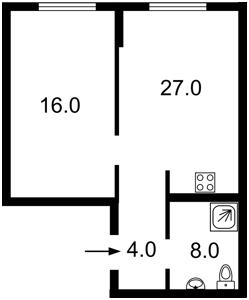 Квартира Маланюка Евгения (Сагайдака Степана), 101 корпус 18-21, Киев, Z-713826 - Фото2