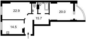 Квартира Глубочицкая, 73-77, Киев, C-108626 - Фото 2