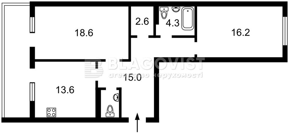 Квартира A-111812, Глибочицька, 43 корпус 1, Київ - Фото 4