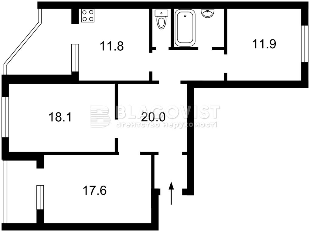 Квартира F-44136, Драгоманова, 1д, Киев - Фото 4