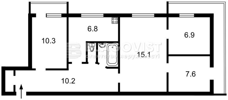 Квартира Z-733350, Васильківська, 2а, Київ - Фото 3