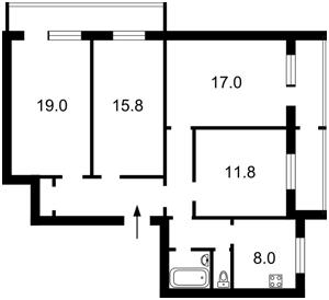 Квартира Вербицкого Архитектора, 22/1, Киев, Z-700279 - Фото2