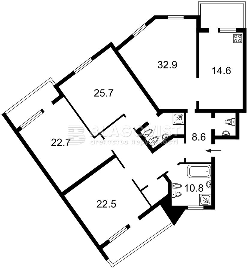 Квартира E-40467, Тургеневская, 52/58, Киев - Фото 2