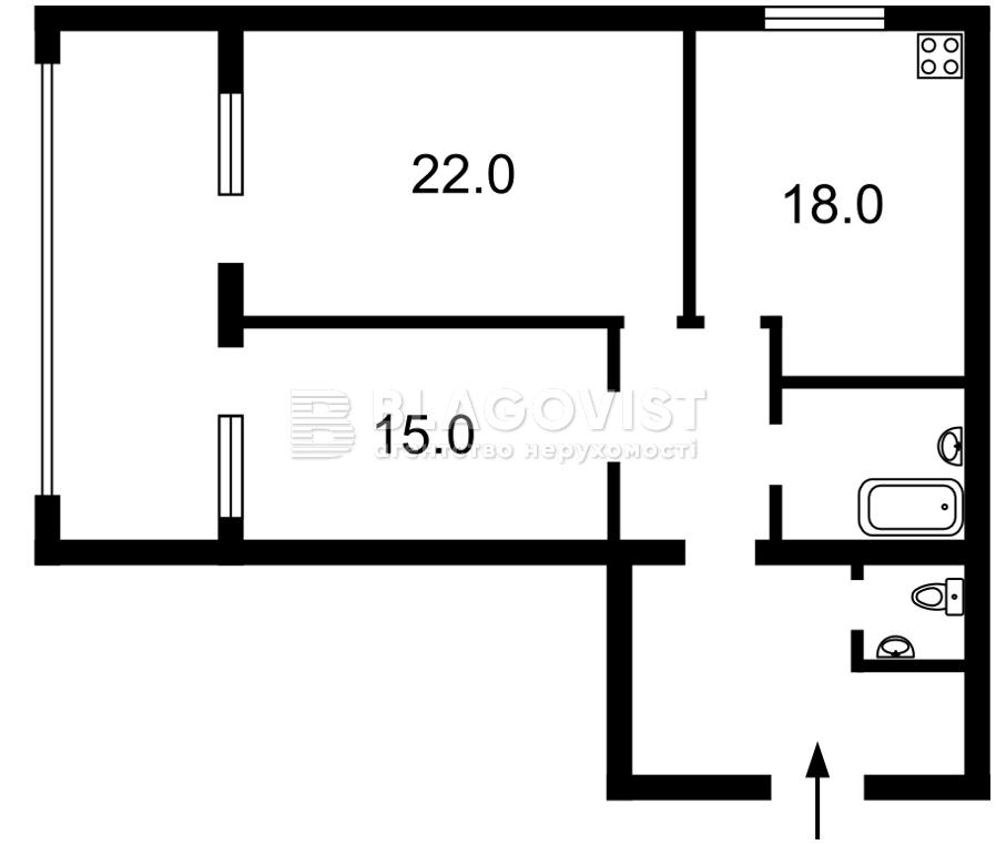 Квартира Z-729087, Хвылевого Николая, 1, Киев - Фото 7