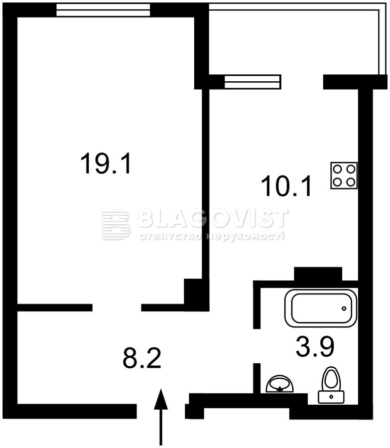 Квартира D-36847, Голосеевский проспект (40-летия Октября просп.), 74, Киев - Фото 3