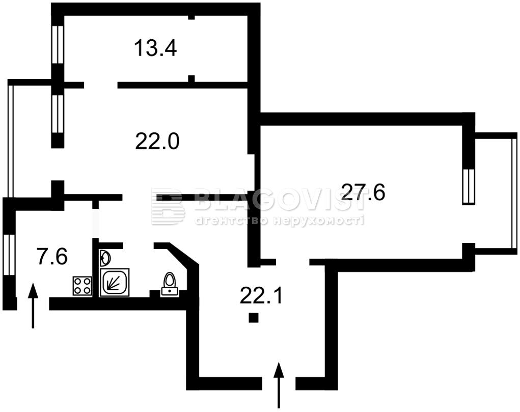 Квартира Z-719444, Музейный пер., 8, Киев - Фото 3