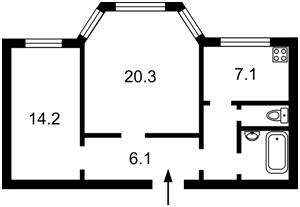 Квартира Грушевского Михаила, 34/1, Киев, A-111876 - Фото2