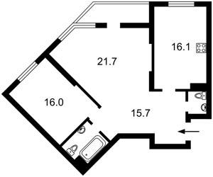 Квартира Ломоносова, 50/2, Киев, C-108710 - Фото2