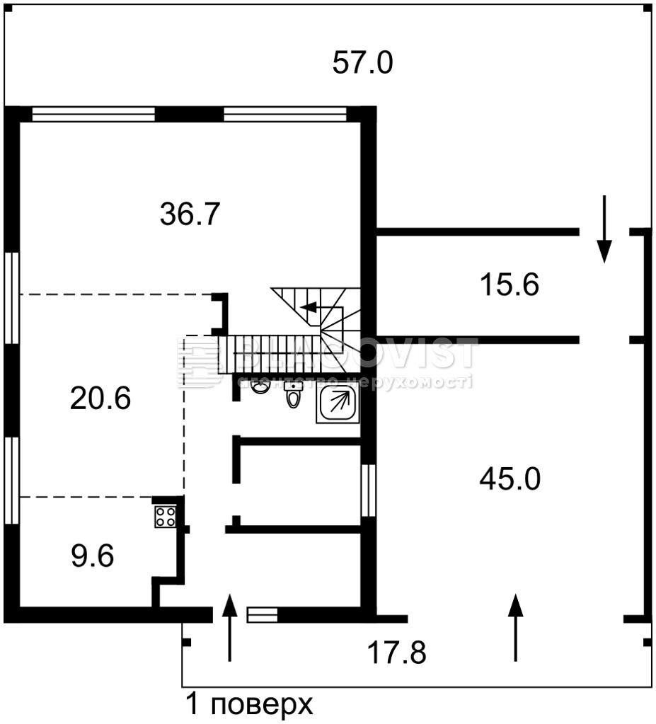 Дом M-38520, Луговая, Рудыки (Конча-Заспа) - Фото 2