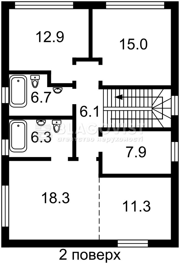Дом M-38520, Луговая, Рудыки (Конча-Заспа) - Фото 3