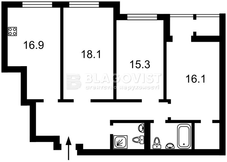 Квартира M-38524, Тверской тупик, 7б, Киев - Фото 7