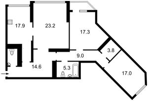 Квартира Срібнокільська, 1, Київ, Z-732299 - Фото 2