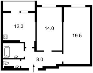Квартира Каховская (Никольская Слободка), 62а, Киев, Z-739529 - Фото2