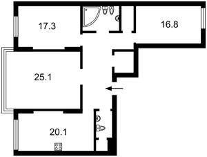 Квартира Дніпровська наб., 14а, Київ, Z-18190 - Фото2