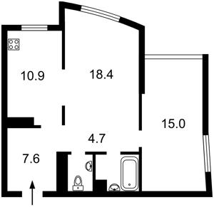 Квартира Оболонский просп., 1 корпус 3, Киев, R-37498 - Фото2